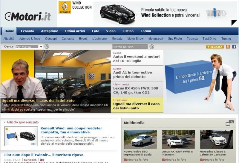 Renault Wind su Motori.it