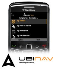 UbiNav navigatore per BlackBerry