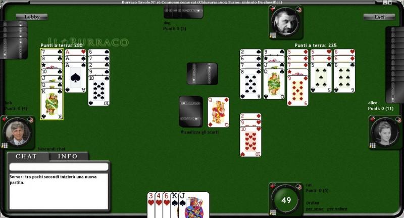 tavolo di gioco del burraco online