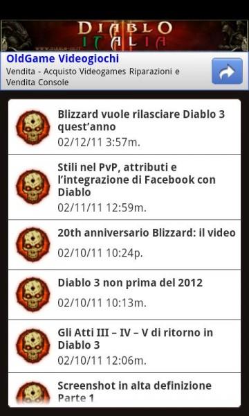 Applicazione Diablo 3 per Android
