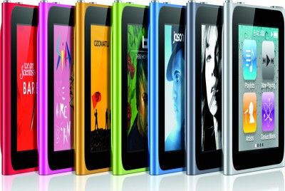 iPod Nano, colori disponibili