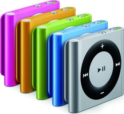iPod shuffle, tutti i colori disponibili