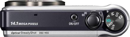 Sony Cyber-shot H55 vista dall'alto