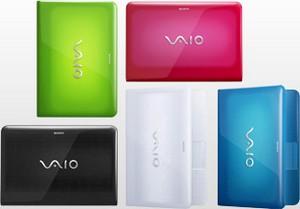 Sony Vaio Serie E, colori