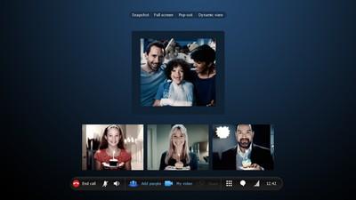 Videochiamate di gruppo con Skype versione business