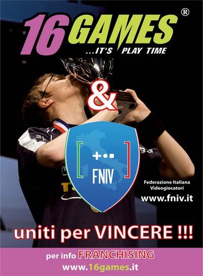 16 Games Master Sponsor della Federazione Italiana Videogiocatori